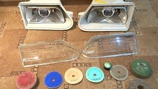 Полировка стёкла фары для ксенон линзы 2114. Видео №75