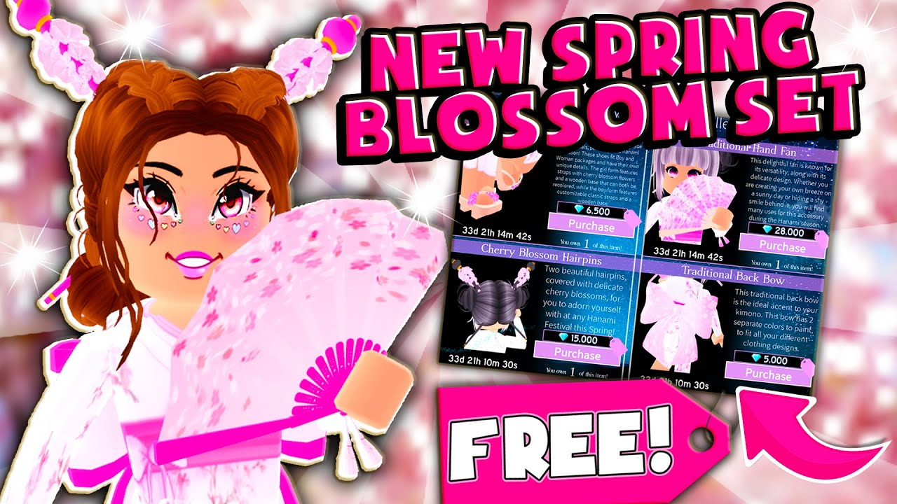 How To Get The New Spring Cherry Blossom Set For Free In Roblox