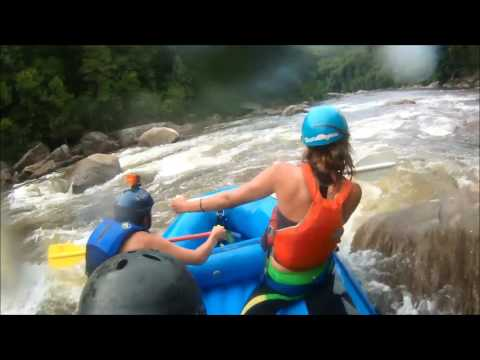 Cheat River Canyon Whitewater Rafting at 3.5 ft, July 8, 2016
