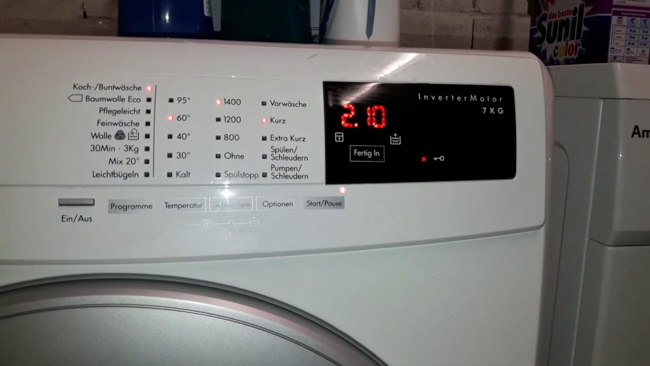 aeg autosense technology waschmaschine youtube