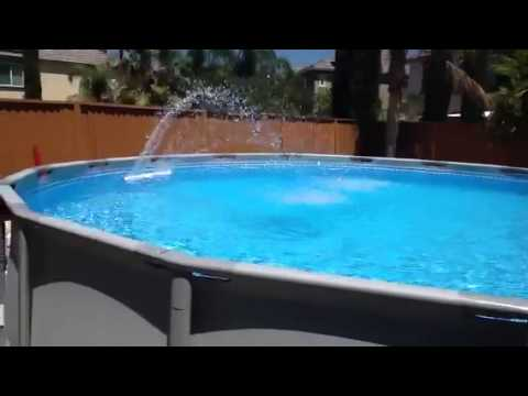 My Intex Pool Set Up Youtube