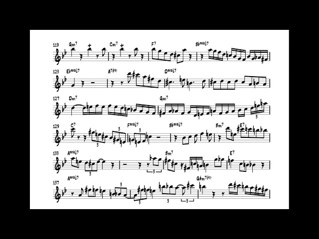 Scott Hamilton Plays : All The Things you are (1993) (solo transcription)