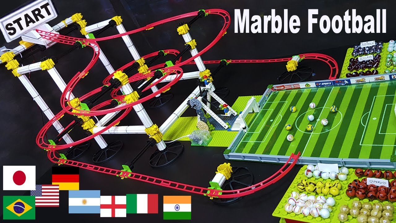 MARBLE FOOTBALL Tournament: 16 Football teams - MARBLE SOCCER Sports Tournament