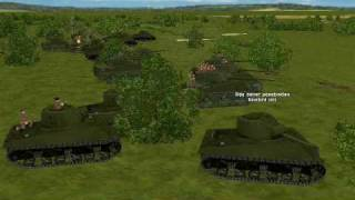 """Combat Mission: Beyond Overlord"" 1 heavily edited turn of large tank battle."