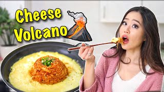 CHEESE VOLCANO KIMCHI FRIED RICE RECIPE! | Korean Food Cooking Show!