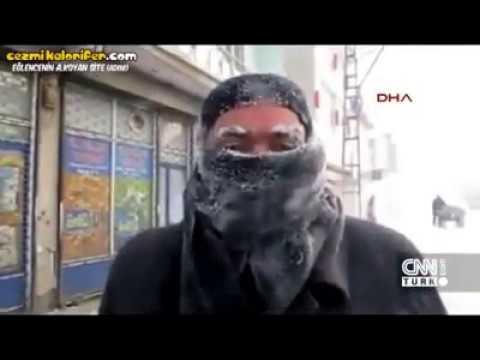 -45 Derecede Hava Soğuk Mu diye soran Muhabir :)