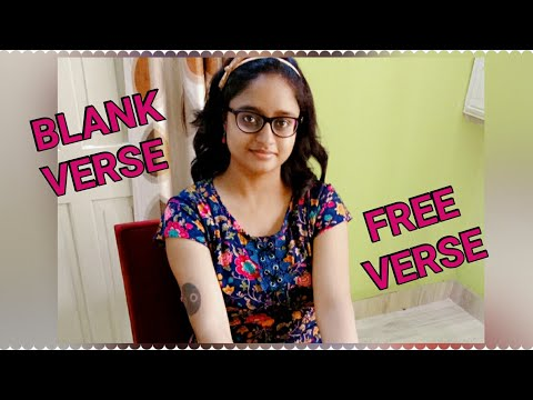 BLANK VERSE & FREE VERSE | EXPLAINED IN HINDI ||