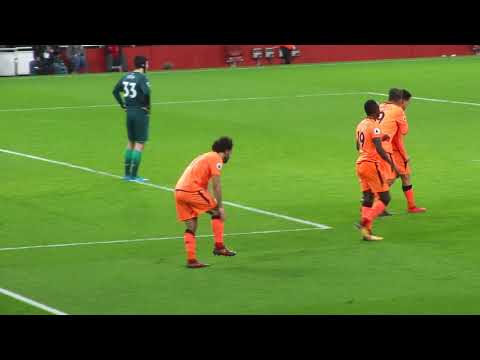 Salah Goal v Arsenal / Amazing Fans View 22 Dec 2017 at The Emirates
