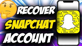 Snapchat Recovery ✅ How To Recover Snapchat Account WITHOUT Phone Number And Email (2021)