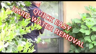 CALCIUM REMOVAL OFF GLASS USING ONE RESTORE