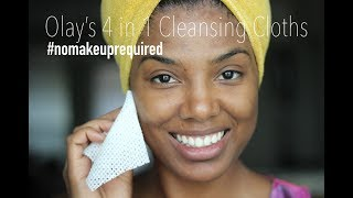 New Skincare Routine with Olay 4 in 1 Cloths | beauty