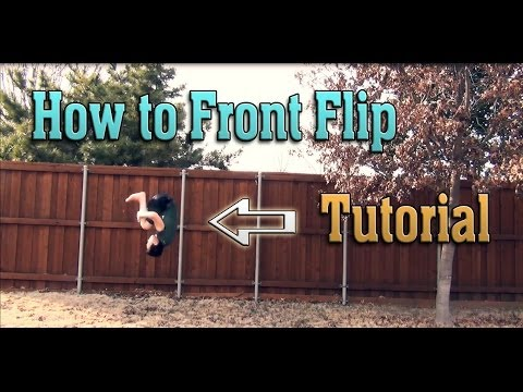How to do a Front Flip / Front Tuck on Flat Ground | Tutorial
