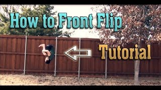 how to do a front flip front tuck on flat ground   tutorial