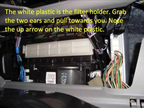 2005 camry cabin air filter replacement youtube. Black Bedroom Furniture Sets. Home Design Ideas