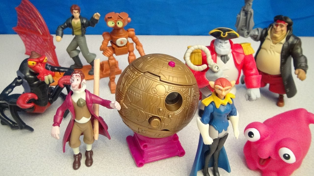 Mcdonalds Treasure Planet Disney Happy Meal Video Toy Collection