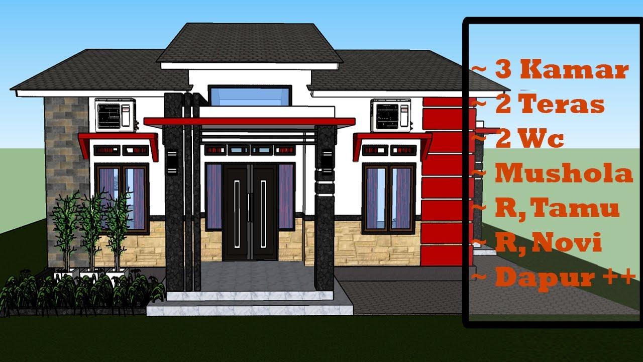 Desain Rumah 9x9 M Dengan 3 Kamar Cocok Untuk Keluarga Besar - YouTube