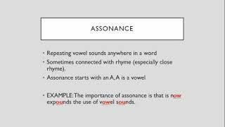 Assonance, Consonance, and Alliteration