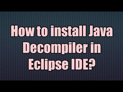 How to install Java Decompiler in Eclipse IDE
