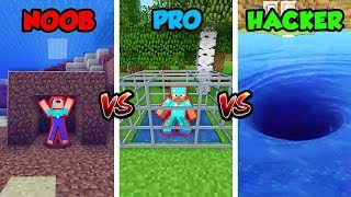 Minecraft NOOB vs. PRO vs. HACKER: UNDERWATER TRAPS in Minecraft! (Animation)