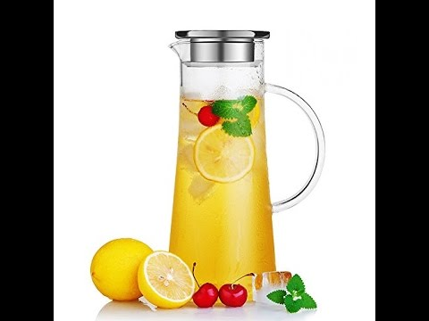 hiware-glass-water-carafe-and-drink-infuser-with-stainless-steel-filter-lid-50-oz-1-5-l-borosilicate