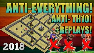2018 Th9! NEW TH9 UNBEATABLE 2018 WAR BASE! COMPLETELY UNBEATABLE! ANTi - EVERYTHING/ ANTI TH-10!