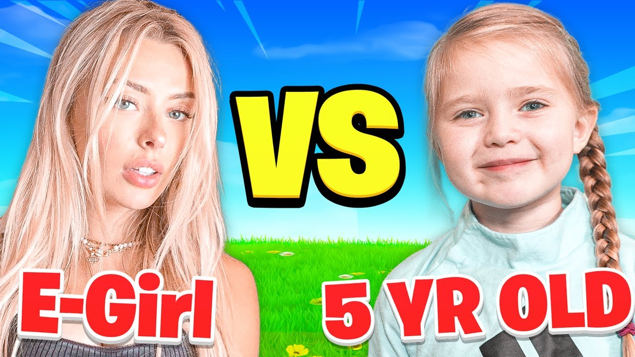 5 Year Old VS. World's BEST E-Girl (Fortnite 1v1)