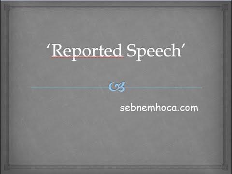 5 dakikada 'Reported Speech' Kullanımı