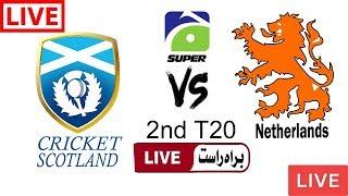 Geo Super Live Cricket Match Today Online Scotland vs Netherland 2nd T20 2018