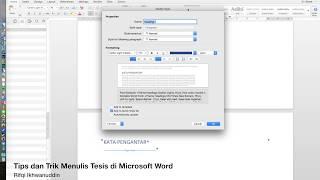 Tips Dan Trik Menulis Tesis Di Mac Microsoft Word 2016 Youtube