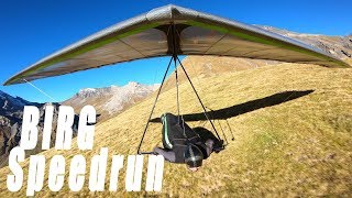 Birg Speedrun Top to Bottom #HANGGLIDING