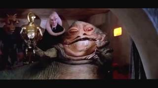 Jabba: Bring her to me, Princess Leia: Ugh!