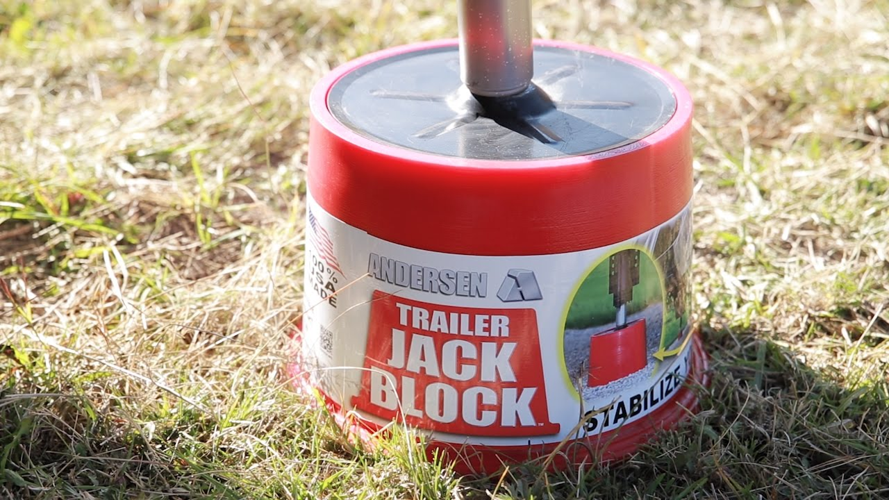 Trailer Jack Block – Eliminating nearly ALL the movement in your parked RV  or trailer!