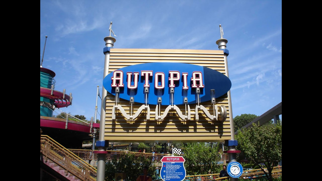 Old Autopia Car Ride Through Disneyland - YouTube