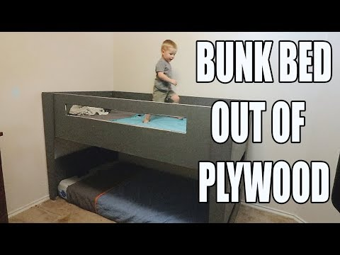 DIY BUNK BED / LOFT BED OUT OF PLYWOOD