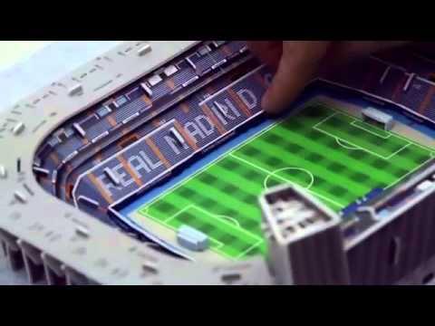 stadion puzzle 3d santiago bernabeu youtube. Black Bedroom Furniture Sets. Home Design Ideas
