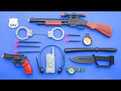 Pistola De Juguete, Radio, Marrocas. Etc. Set Policial - TOYS REVIEW - Toys Kids