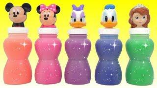 Disney Princess Slime Container Colors with Hidden Surprises Inside!