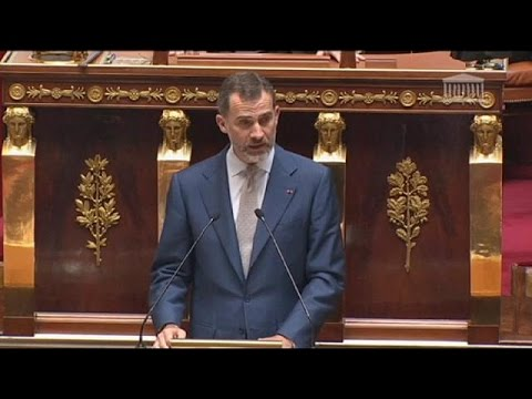 'France integral to Europe,' Spain's King Felipe declares