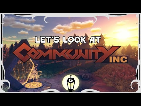 Build Happiness For Profit | Let's Look At Community Inc (Alpha Gameplay)