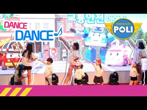 Traffic safety with Poli Dance   Robocar poli special clip