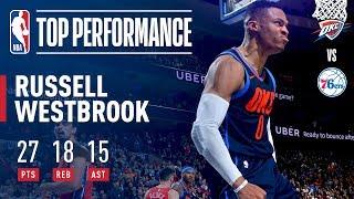 Russell Westbrook Gets a Triple-Double in Triple OT | December 15, 2017