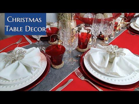 Christmas Table Setting Decor | Home Decorations | Vlog | Luxury Setup | Manila London  Filipino UK