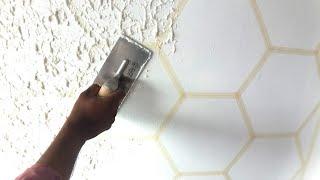 Asian paints scratch texture/ Wall painting techniques