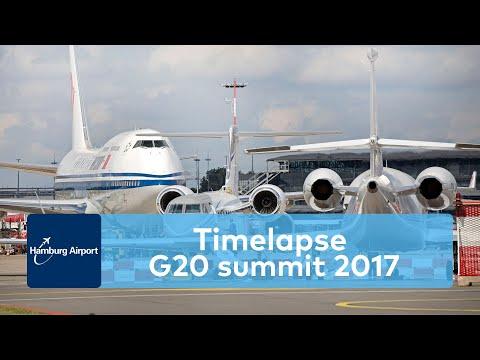 G20 summit 2017 at Hamburg Airport | Timelapse