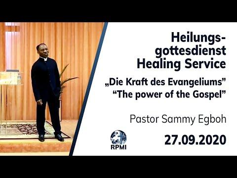 """RPMI-Heilungsgottesdienst vom 27.09.2020 - """"Die Kraft des Evangeliums"""" Pastor Sammy Egboh"""