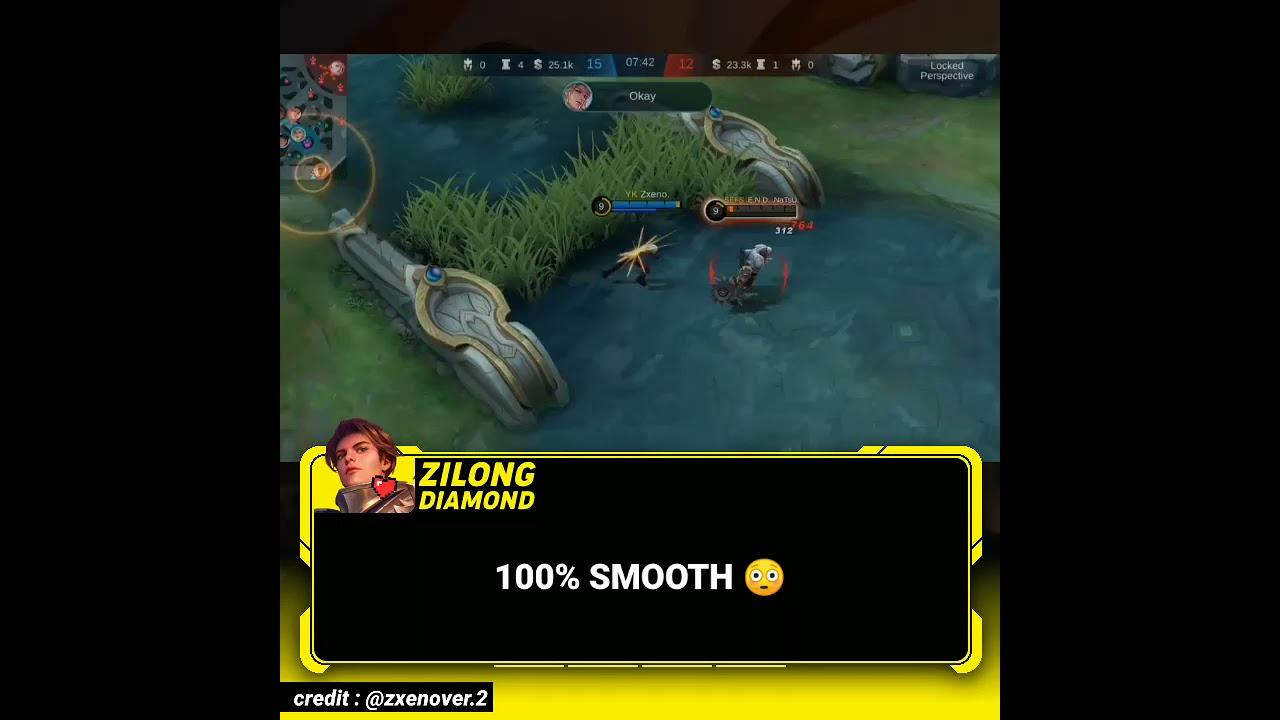 🚧 100% SMOOTH - Mobile Legends Zilongdiamond (127) #Shorts
