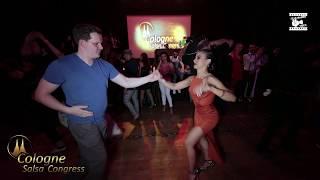 Sebastian Bibrach & Myrto Misyri - social dancing @ Cologne Salsa Congress 2019