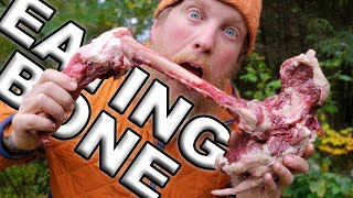 Eating BONE MARROW for Breakfast, Day 7 Of 8 /  Wilderness Living Challenge  S04E08  Survival