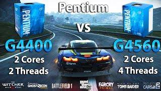 Pentium G4400 vs G4560 Test in 7 Games