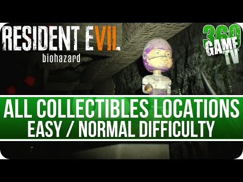 Resident Evil 7 All Collectibles Locations (Files / Coins / Everywheres / Tapes) on easy / normal